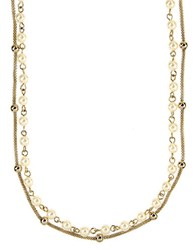 Anne Klein Goldtone And Cream Pearl Double Strand Necklace