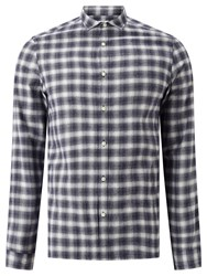 John Lewis Kin By Ombre Check Shirt Navy