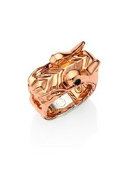 John Hardy Legends Naga Bronze And Silver Dragon Head Ring Rose Gold