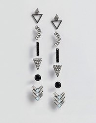 Aldo Grice Multipack Earrings Silver