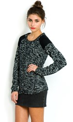 Mbym Chunky Black Marl Winter Knit With Zippers