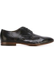 Raparo Perforated Derby Shoes Black