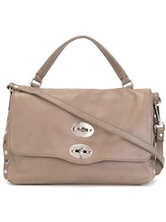 Zanellato Small 'Postina' Satchel Grey