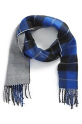 The Rail Plaid Double Face Scarf Blue