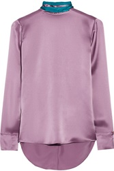 Matthew Williamson Two Tone Silk Satin Blouse