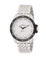Peugeot Black And Stainless Steel Bracelet Watch