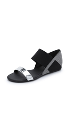 United Nude Lisa Lo Sandals Black White Mix Black