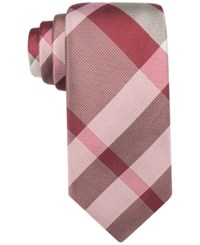 Ryan Seacrest Distinction Exploded Plaid Slim Tie Med. Red