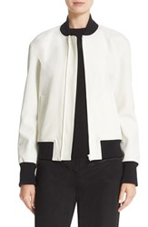 Dkny Women's Rib Trim Bomber Jacket