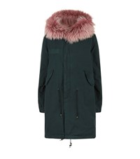 Mr And Mrs Italy Fur Lined Long Parka Female Green