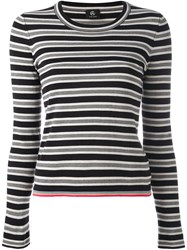 Paul Smith Ps By Striped Sweater Black