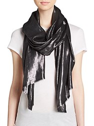 Bajra Cashmere And Lurex Scarf Black
