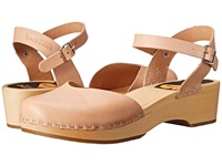Swedish Hasbeens Covered Low Wedge Nature Women's 1 2 Inch Heel Shoes Neutral