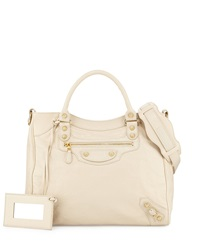 Balenciaga Giant 12 Golden City Tote Bag Cream