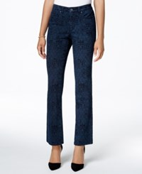 Charter Club Petite Lexington Printed Straight Leg Jeans Only At Macy's Rinse Combo