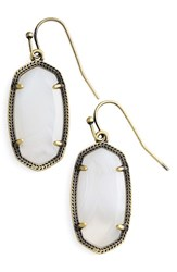 Kendra Scott Women's 'Dani' Drop Earrings White Agate Antique Brass