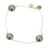 Ginette_Ny Bead Chain Pyrite Bracelet