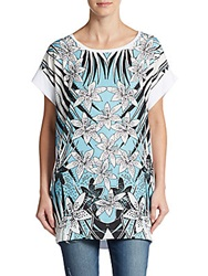 Just Cavalli Printed Dolman Tunic White Multi