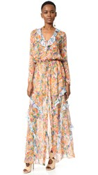 Saloni Izzie Dress Sunset Flight Lunar Flight