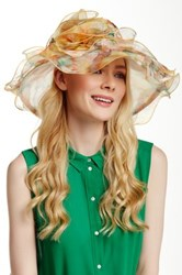 Something Special Hats Floral Print Organza Hat Multi