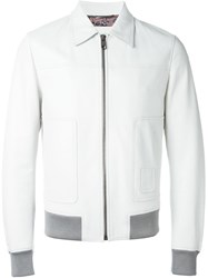 Dolce And Gabbana Leather Jacket White