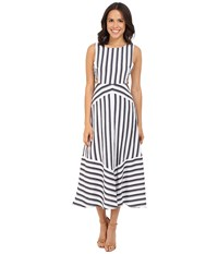 Brigitte Bailey Amalie Striped Dress With Cut Out Sides Navy White Women's Dress Blue