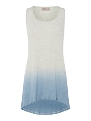 Label Lab Rib Dip Dye Racer Bk Vest Grey
