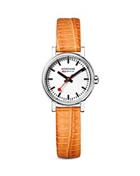Mondaine Evo Petite Leather Watch 26Mm White