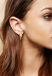 Forever 21 Amber Sceats Prism Earrings Gold White