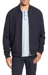Vince Men's Reversible Stretch Wool Bomber Jacket Coastal Blue
