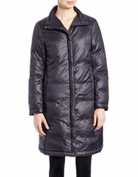 Eileen Fisher Funnel Neck Puffer Jacket Black