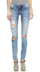 Blank Distressed Skinny Jeans Good Vibes