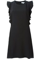 Carven Ruffle Trimmed Dress Black