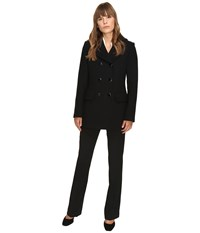 Kate Spade Double Breasted Peacoat Bowback 30 Black Women's Coat