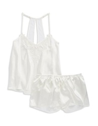 Flora By Flora Nikrooz Two Piece Embroidere Cami And Shorts Set Ivory