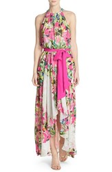 Women's Eliza J Floral Print Chiffon High Low Dress