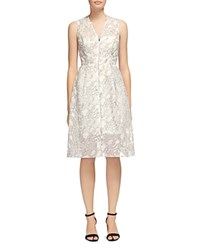 Whistles Marrion Double Layer Zip Front Dress Ivory
