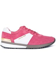 Michael Michael Kors Panelled Sneakers Pink And Purple