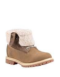 Timberland Authentics Fleece Fold Down Boots Taupe