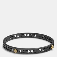 Coach Daisy Rivet Pierced Kissing C Bangle Black
