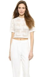 Boxy Crop Top White