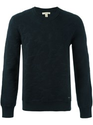 Burberry Textured Sweatshirt Blue