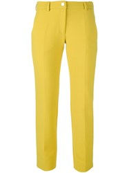 Versace Collection Cropped Trousers Yellow And Orange