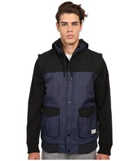 Matix Clothing Company Big Game Quilt Fleece Midnight Men's Sweatshirt Navy