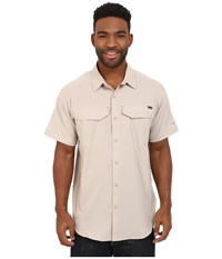 Columbia Silver Ridge Lite Short Sleeve Shirt Fossil Men's Short Sleeve Button Up Beige