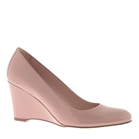 J.Crew Martina Patent Wedges Soft Desert