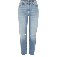 River Island Womens Light Blue Wash Ripped Ashley Boyfriend Jeans