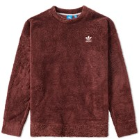Adidas Terry Relaxed Crew Sweat Brown