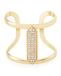 Lydell Nyc Crystal Studded Golden Cuff Bracelet