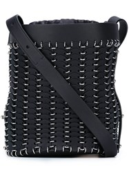Paco Rabanne Chain Mail Bucket Shoulder Bag Black